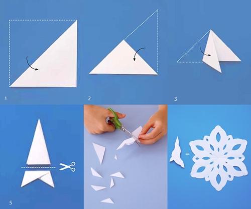copitos de nieve Como hacer copitos de nieve de papel