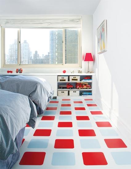 decoracion infantil suelos  Suelos con color en el dormitorio infantil
