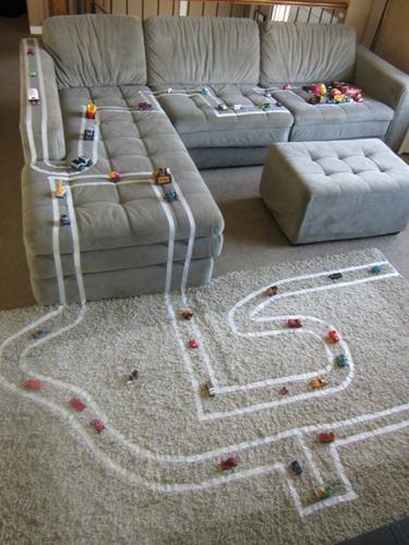 circuito casero DIY: Un circuito de carreras muy casero