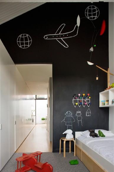paredes de pizarra 2 Paredes con Pintura de Pizarra para Habitaciones de Niños